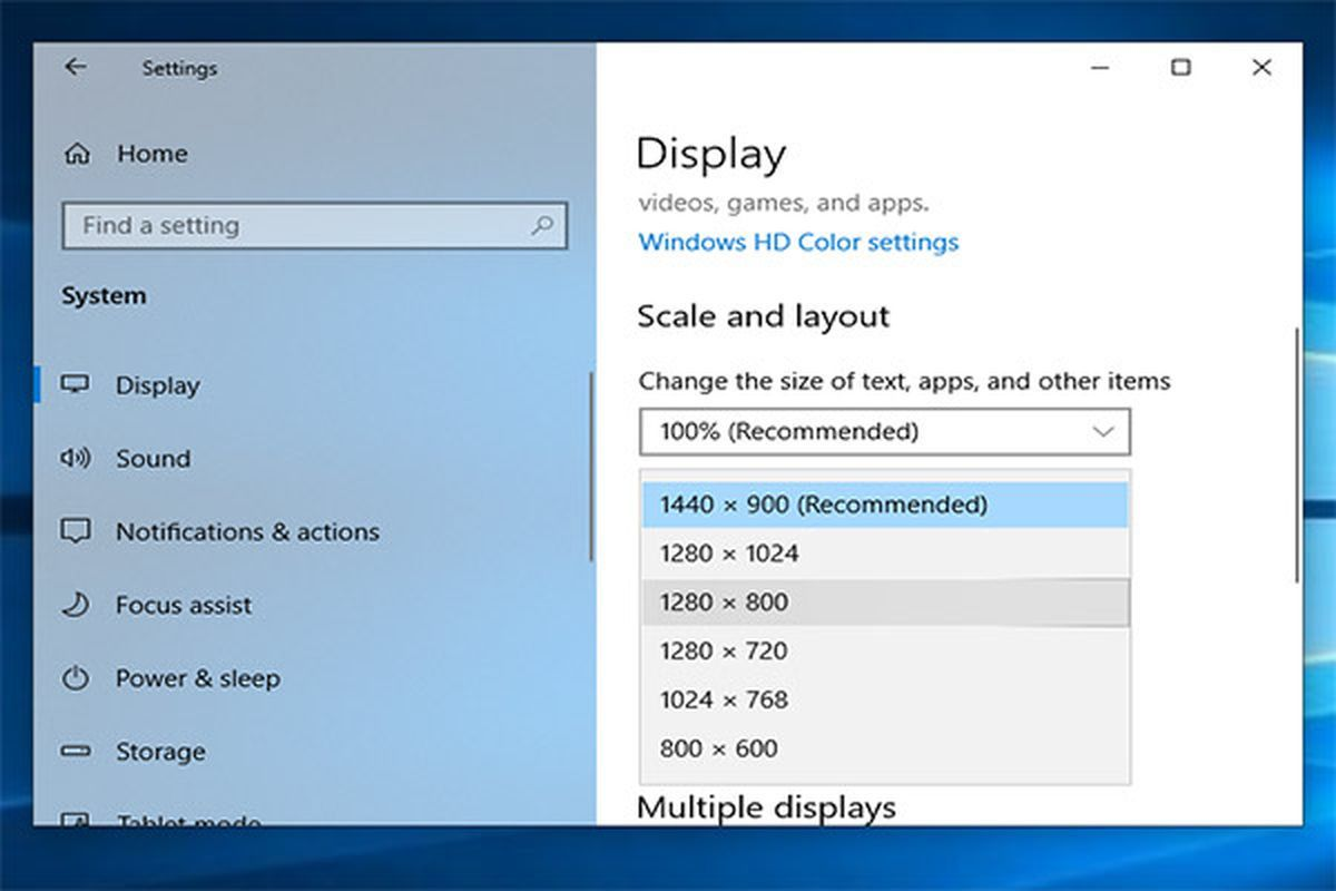 cómo comprobar la resolución de pantalla de windows 10